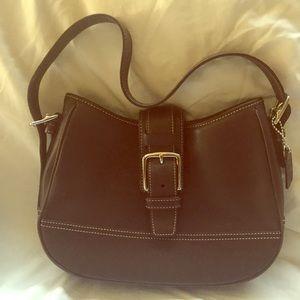 Coach  vintage  chocolate leather  hobo bag